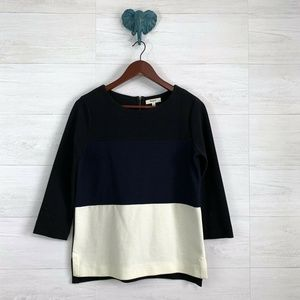 Madewell Gallerist Ponte Knit Colorblock Top